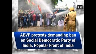 ABVP protests demanding ban on Social Democratic Party of India, Popular Front of India