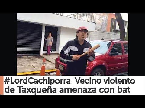 Agresivo amenaza con bat por llevarse sus cachivaches en Taxqueña #LordCachiporra