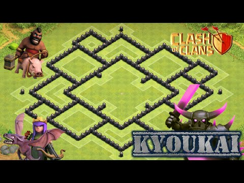 ✅Clash Of Clans: TH8 War Base 2017 - Kyoukai + Picture Proof