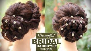Bridal Hairstyle Tutorial   Easy Step By Step Bridal Hairstyles   Bridal Hair Bun   Khoobsurat