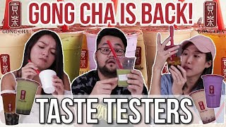 WE TRIED GONG CHA'S NEW DRINKS | Taste Testers | EP 33
