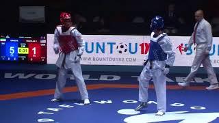 2018 WT World Junior Taekwondo Championships Hammamet-Mohammad Mahdi Emadi(IRI) vs CJ Nickolas (USA)