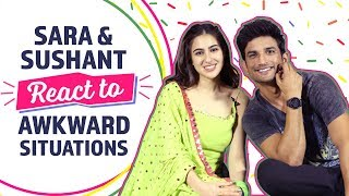 Sara & Sushant  React to Awkward Situations   Kedarnath   Bollywood   Pinkvilla