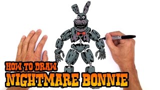 How to Draw Nightmare Bonnie | Five Nights at Freddy's