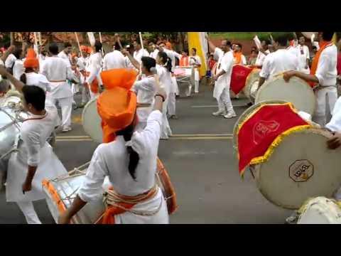 Chhava Shivai Nagar Dhol Pathak performance at Gudi Padwa celebration Upvan