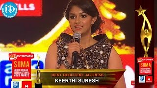 Best Debutant Actress Keerthi Suresh - SIIMA 2014, Malayalam