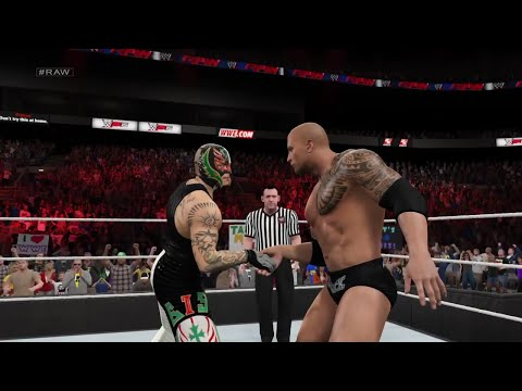 WWE 2K15- The Rock vs Rey mysterio Normal Match