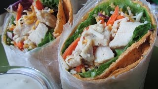 How To Make Grilled Chicken Wraps