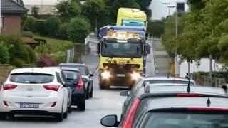 LKW Hochzeits Truck Konvoi mit Hupkonzert