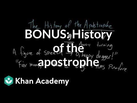 Xxx Mp4 BONUS History Of The Apostrophe The Apostrophe Punctuation Khan Academy 3gp Sex
