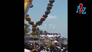 B.Z.Zameer Ahmed was garlanded by ''Huge Badami Garland'' A2Z Tv