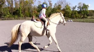 First Time Cantering on a Horse!