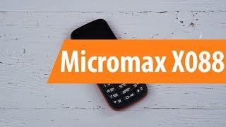 Распаковка Micromax X088 / Unboxing Micromax X088