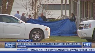 Teen charged with murder after mom decapitated near Zebulon, officials say