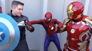 SPIDER-MAN vs CAPTAIN AMERICA vs IRON MAN