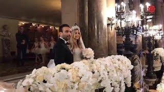 شاهد.. حفل زفاف أسطوري لحفيدة عبد الحليم خدام بدار الأوبرا في باريس