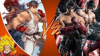 RYU vs JIN KAZAMA - ARCADE MODE! [EPISODE 4] & Cartoon Fight Club (EP 98) REACTION!!!