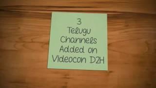 3 Telugu Channels added on Videocon D2H