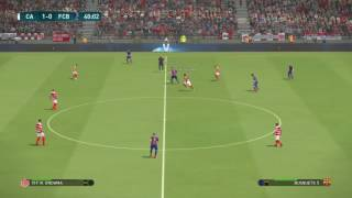 PS4 PES 2017 Gameplay Club Africain vs FC Barcelona HD