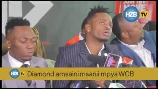 Rich Mavoko akisaini mkataba mpya WCB Diamond amkalibisha kwenye familia hiyo