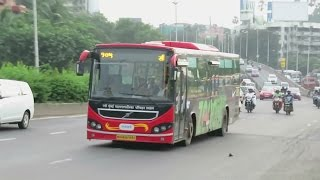 ZOOOM Volvo B7RLE : NMMT Volvo 105 on Eastern Express Highway : Bandra to CBD Belapur