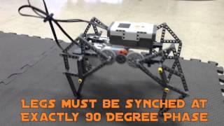 Walking Lego MINDSTORM NXT Robot, w/ 4 Legs, walks like a real Dog/Cat/Horse.  Theo Jansen inspired.