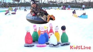 ジャンボウリング大会&スキー ぐりんぱ お出かけ こうくんねみちゃん Giant Bowling in Snow Park