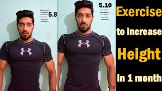 Exercise Increase Height Fast Naturally in 1 Month | Grow Height after 18