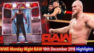 WWE Monday Night RAW 10th Dec 2018 Highlights Preview - Braun Strowman Returns | Lars Sullivan Debut
