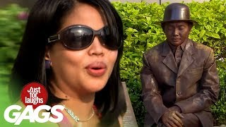 Moving Statue Caught on Tape - Just For Laughs Gags