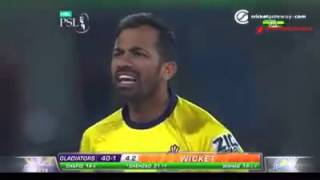 Wahab riaz fight with ahmed shezad in psl