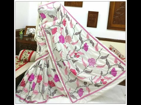 new kantha work sarees