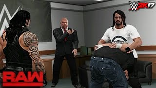 WWE 2K17 Story - Seth Rollins Returns! Triple H vs Rollins at WrestleMania 33 - WWE RAW 2017