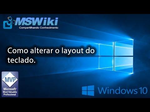 watch Windows 10 - Como alterar o layout do teclado