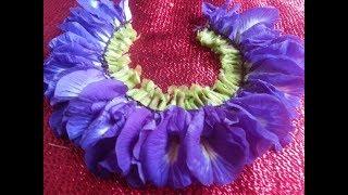 சங்குப்பூ ஒற்றை பக்க மாலை | Clitoria Flower One-Sided Garlands