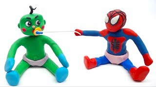 Baby Spiderman And Hulk Playing Fun Baby Games Superhero Play Doh Baby Life Animations