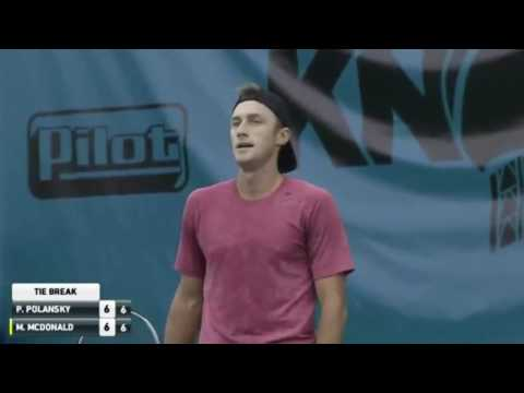 Tennis fail Polansky loses the first set to an UNDERHAND server McDonald