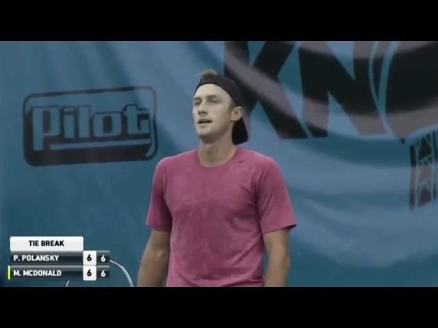 Tennis fail - Polansky loses the first set to an UNDERHAND server McDonald