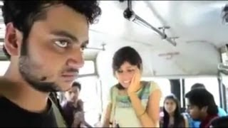 Girl slap to a innocent boy and Then Boy slap to a Girl in a bus.MP4