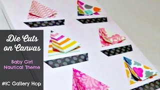 #IC Gallery Hop Collage Canvases for Baby Girl