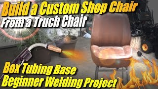 Make a Shop Stool from an Old Truck Seat