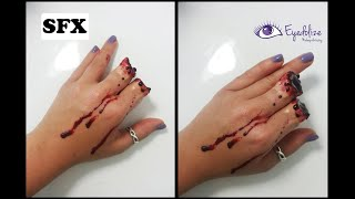I CHOPPED MY FINGERS OFF!! Halloween Makeup Tutorial By Eyedolize Makeup