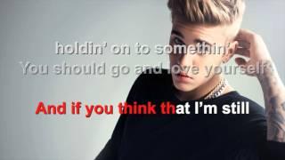 Justin Bieber - Love Yourself - Karaoke with lyrics