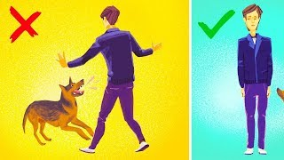 ماذا ستفعل إذا هاجمك كلبٌ شرس .. ؟؟! (10  حيل ستنقذ حياتك )