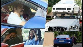Celebrities With their Super Cars At Amma General Body Meeting , Mammootty , Jayasurya , Miya