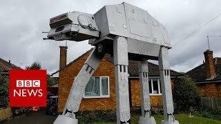 Giant Star Wars model built in garden - BBC News