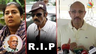 Goundamani & Sathyaraj Condolence Speech at Popular Producer Panchu Arunachalam Death