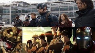 Attack on Titan s2 opening Sasageyo Captain America parody