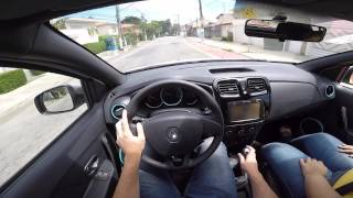 Renault Sandero 1.0 SCe 3 Cilindros 12v 2017 Test Drive Onboard POV GoPro