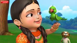 பச்சைக்  கிளி | Tamil Rhymes for Children | Infobells